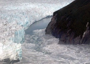 Gletscherlauf Hubbard Glacier